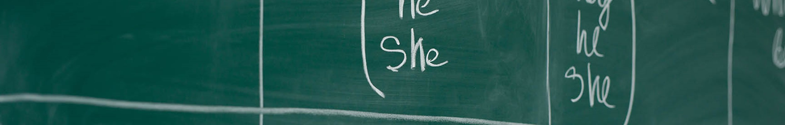 Writing in chalk on chalkboard